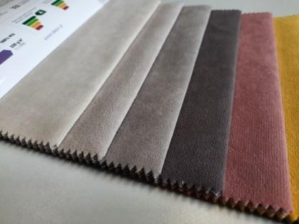 Tkanina Welurowa Pastelowy RÓŻ materiał obiciowy R3-03