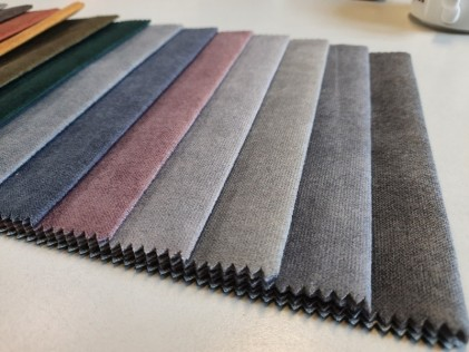 Tkanina LANA imitacja bawełny na podkładzie